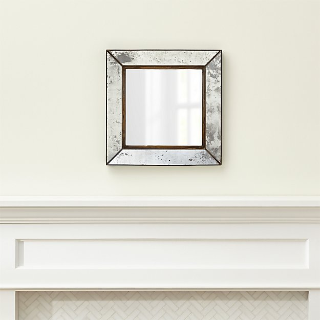 Dubois small square wall mirror crate and barrel for Big square wall mirror
