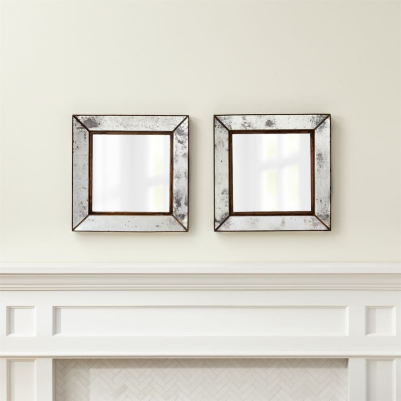 Baby Safe Wall Mirrors 2 Dubois Small Square Wall Mirrors, Set of 2