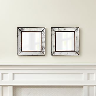 Dubois Small Square Wall Mirrors, Set of 2