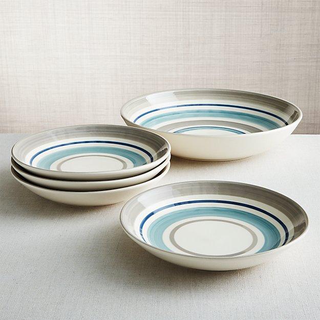 Dumont Stripe Bowls, Set of 5