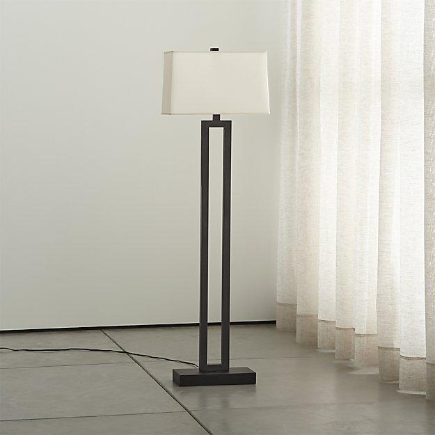 Duncan Antiqued Bronze Floor Lamp - Duncan Antiqued Bronze Floor Lamp Crate And Barrel