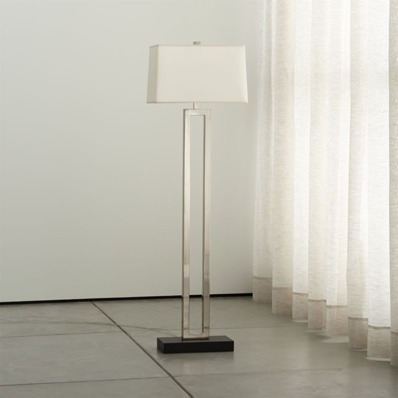 Duncan Antiqued Silver Floor Lamp Reviews Crate And Barrel