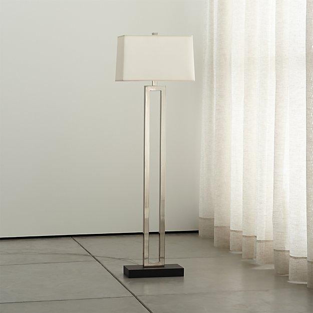 Duncan Antiqued Silver Floor Lamp - Image 1 of 4
