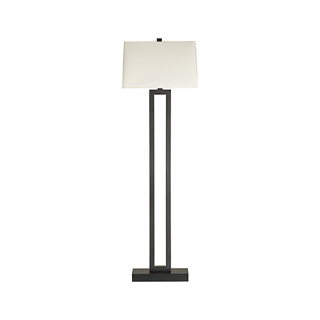 Duncan antiqued bronze floor lamp crate and barrel for Bronze floor lamp nz