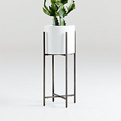 Dundee White Floor Planters Crate And