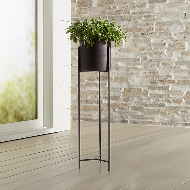 Dundee Bronze Floor Planter with Extra Large Stand - Image 1 of 13
