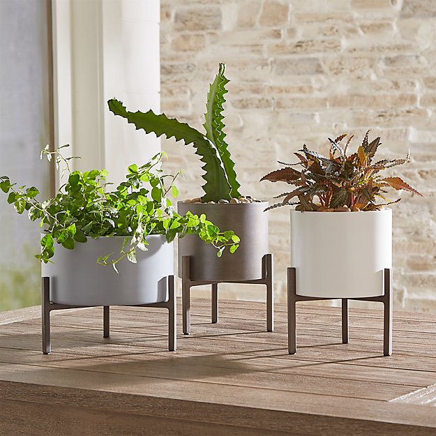 Dundee Tabletop Planters, Set of 3 - Image 1 of 3
