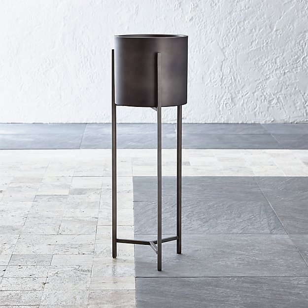 Dundee Bronze Floor Planter with Tall Stand - Image 1 of 13