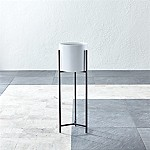 Dundee White Round Planter with Tall Stand