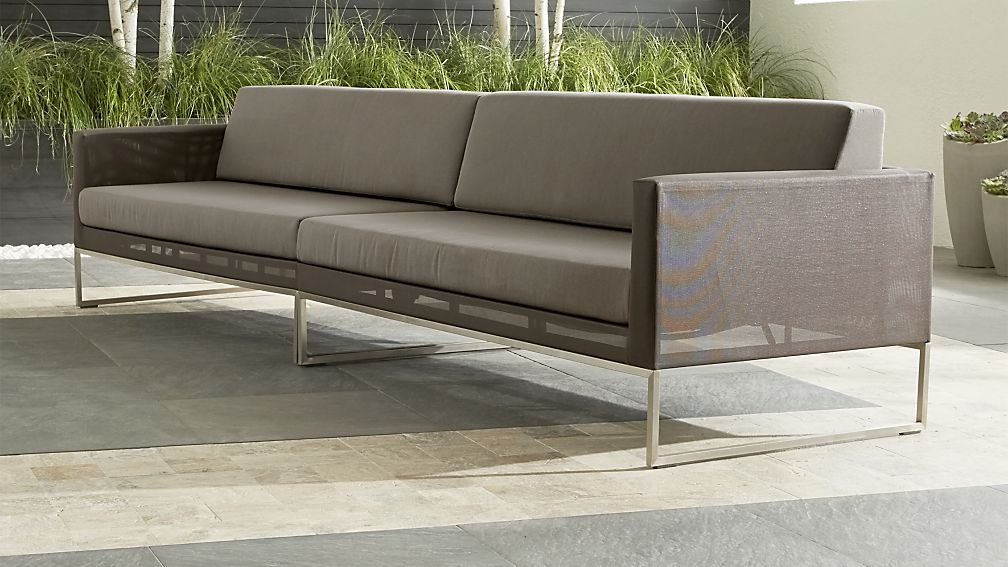 Dune 2 Piece Grey Outdoor Sofa