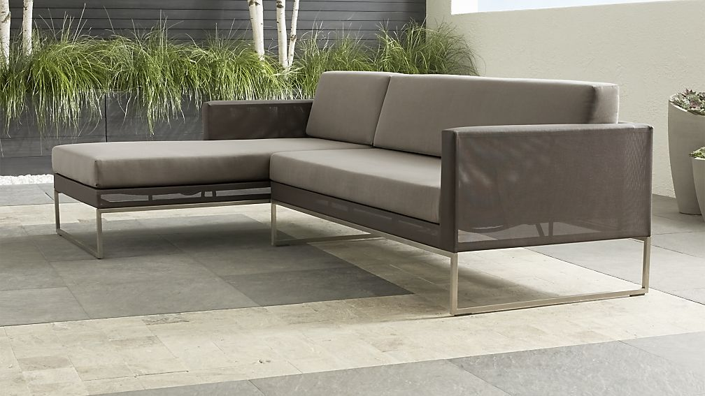 Dune Taupe 2-Piece Left Arm Chaise Sectional with Sunbrella ® Cushions - Image 1 of 3