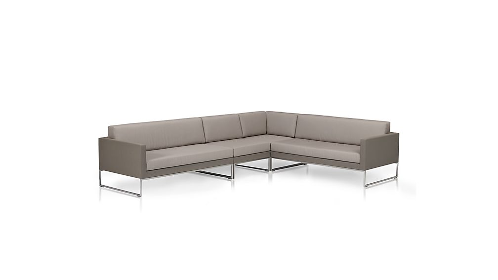 Dune 4 Piece Sectional Sofa with Sunbrella Cushions