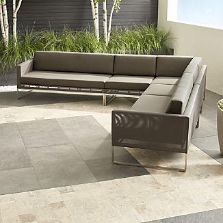 cb2 patio furniture. Dune 5-Piece Sectional Sofa With Sunbrella ® Cushions Cb2 Patio Furniture