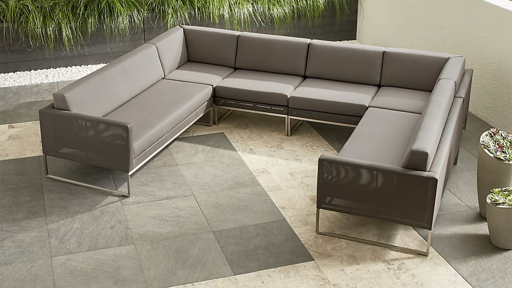 Dune 5-Piece Sectional Sofa with Sunbrella ® Cushions | Crate and ...