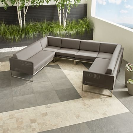 Dune Taupe 6 Piece Sectional Sofa With