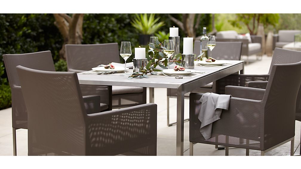 dune faux concrete dining table | crate and barrel