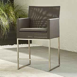 Dune Taupe Counter Stool with Sunbrella ® Cushion