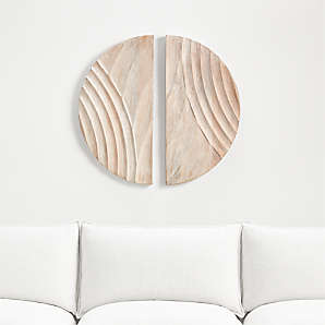 Wall Art Wood Metal And Fabric Designs Crate And Barrel