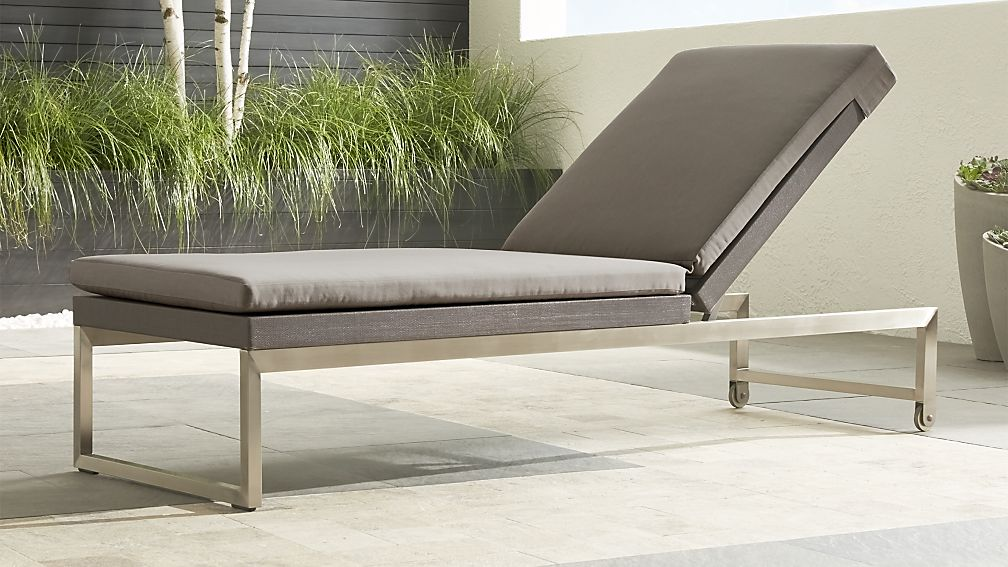 Dune Taupe Chaise Lounge with Sunbrella ® Cushion - Image 1 of 10