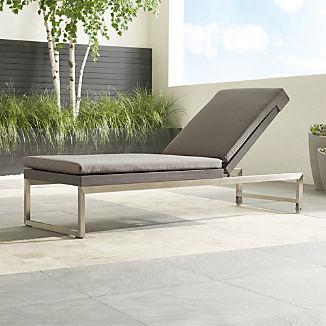 Dune Taupe Chaise Lounge with Sunbrella ® Cushion