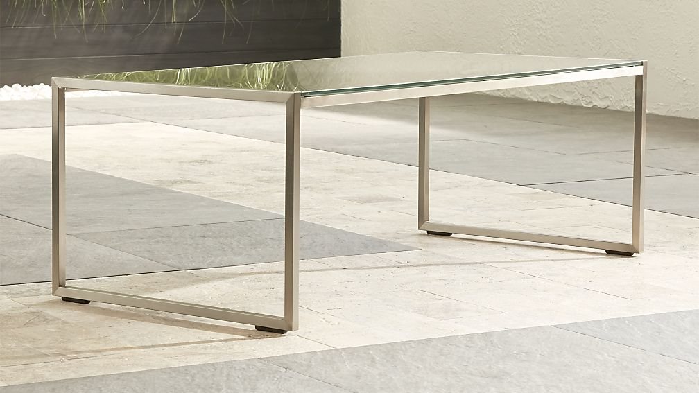 Dune Coffee Table with Taupe Painted Glass - Image 1 of 10