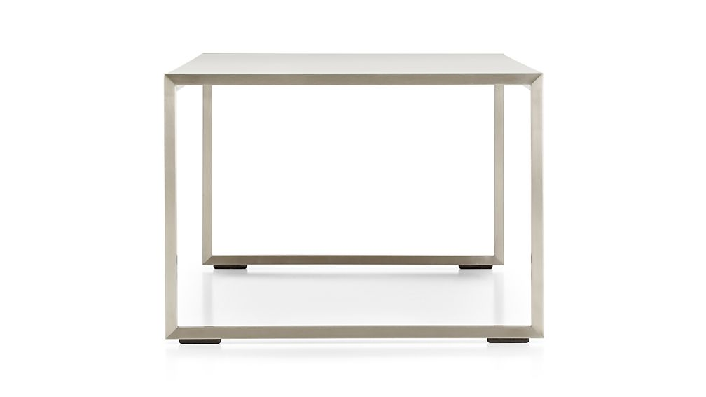 Dune Coffee Table with Taupe Painted Glass