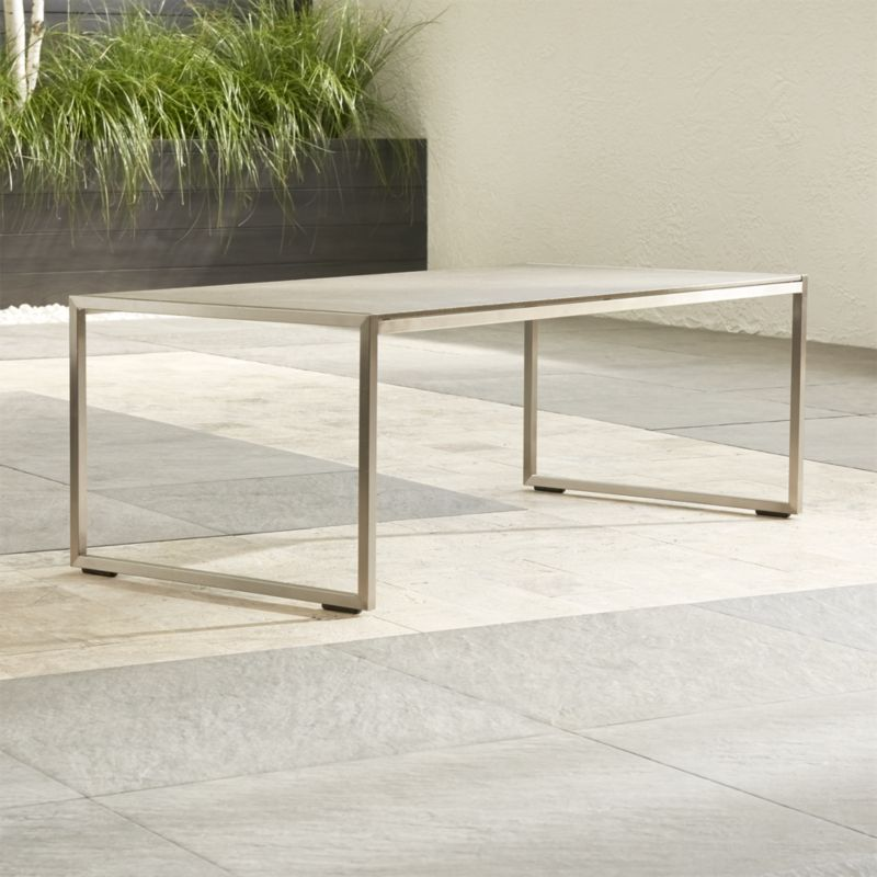Dune Coffee Table with Pebbled Glass Crate and Barrel