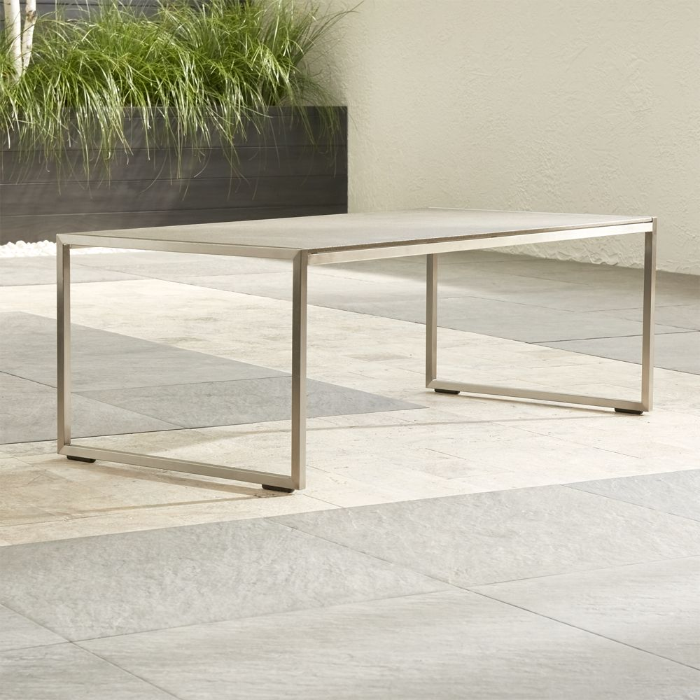 Dune Coffee Table with Pebbled Glass - Crate and Barrel