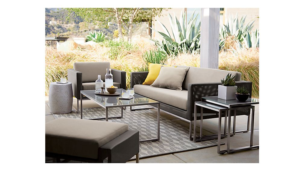 dune lounge chair with sunbrella cushions crate and barrel