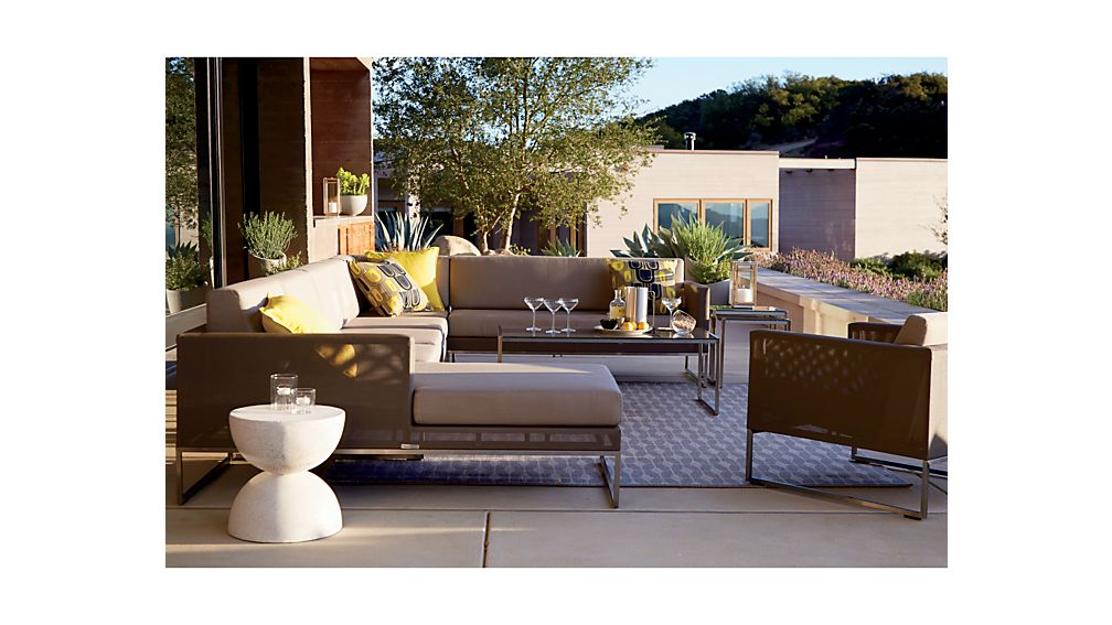 Dune Corner Chair with Sunbrella ® Cushions
