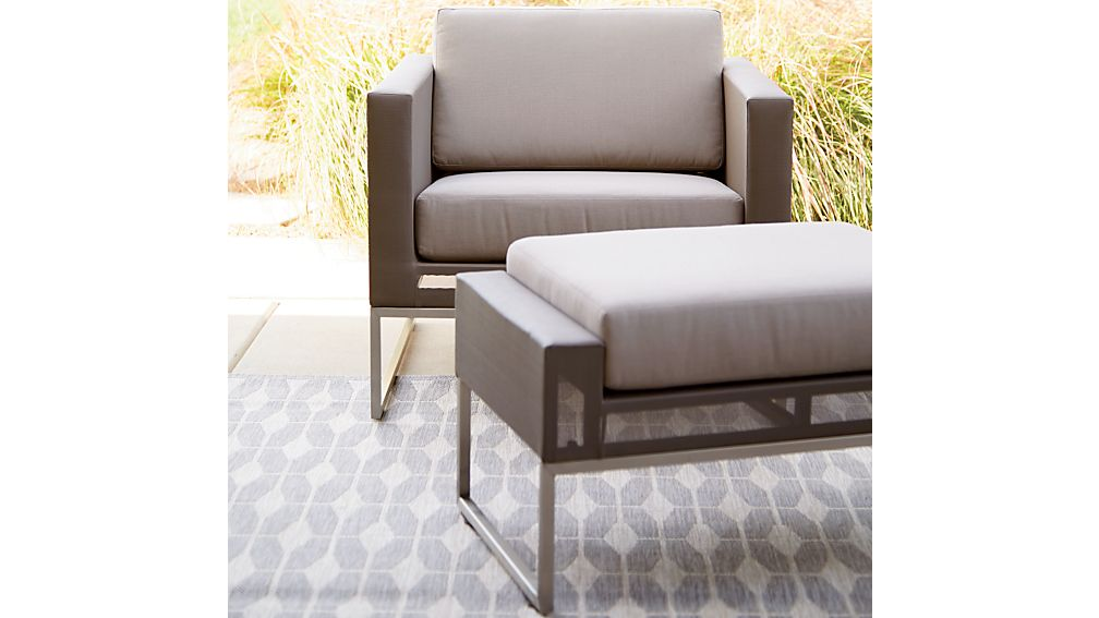 ... Dune Ottoman with Sunbrella ® Cushion ... - Dune Ottoman With Sunbrella ® Cushion Crate And Barrel