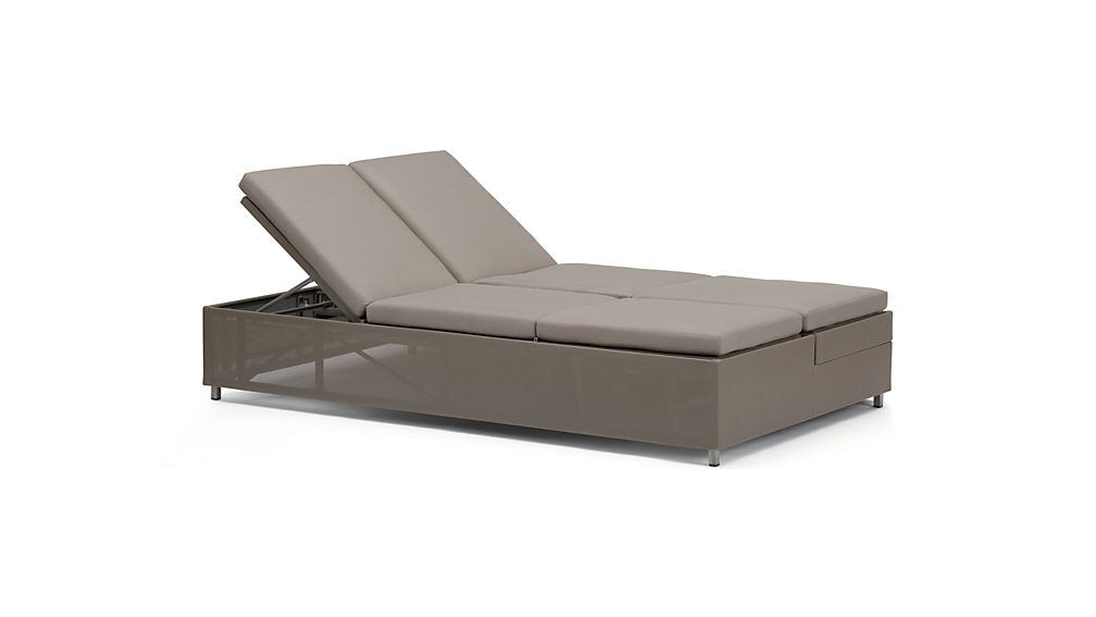 ... Dune Double Chaise Sofa Lounge with Sunbrella ® Cushions ...  sc 1 st  Crate and Barrel : cushion for double chaise lounge - Sectionals, Sofas & Couches