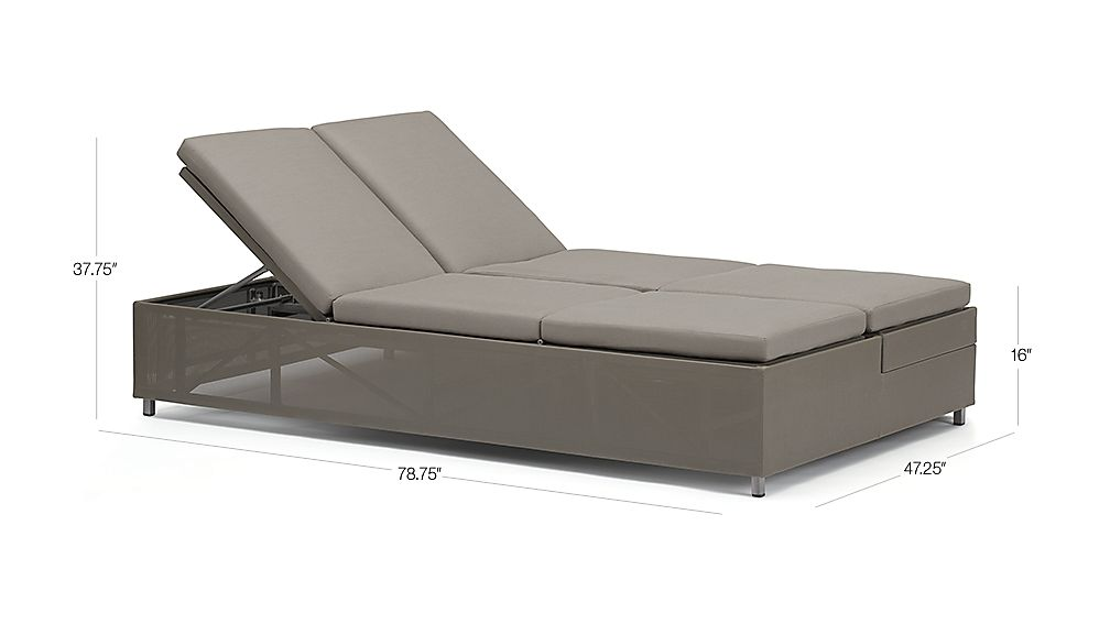 Dune Double Chaise Sofa Lounge with Sunbrella Cushions