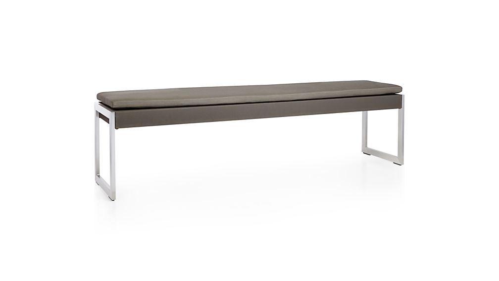 Dune Taupe Dining Bench with Sunbrella ® Cushion