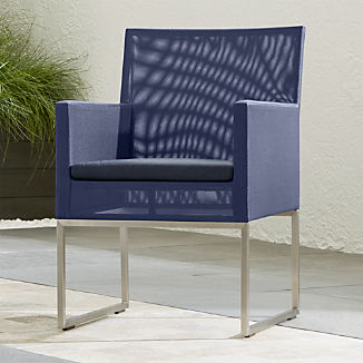 Dune Navy Dining Chair with Sunbrella ® Cushion