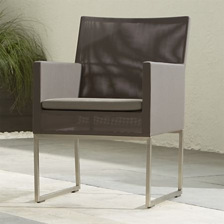 Mesh Outdoor Dining Chair Taupe