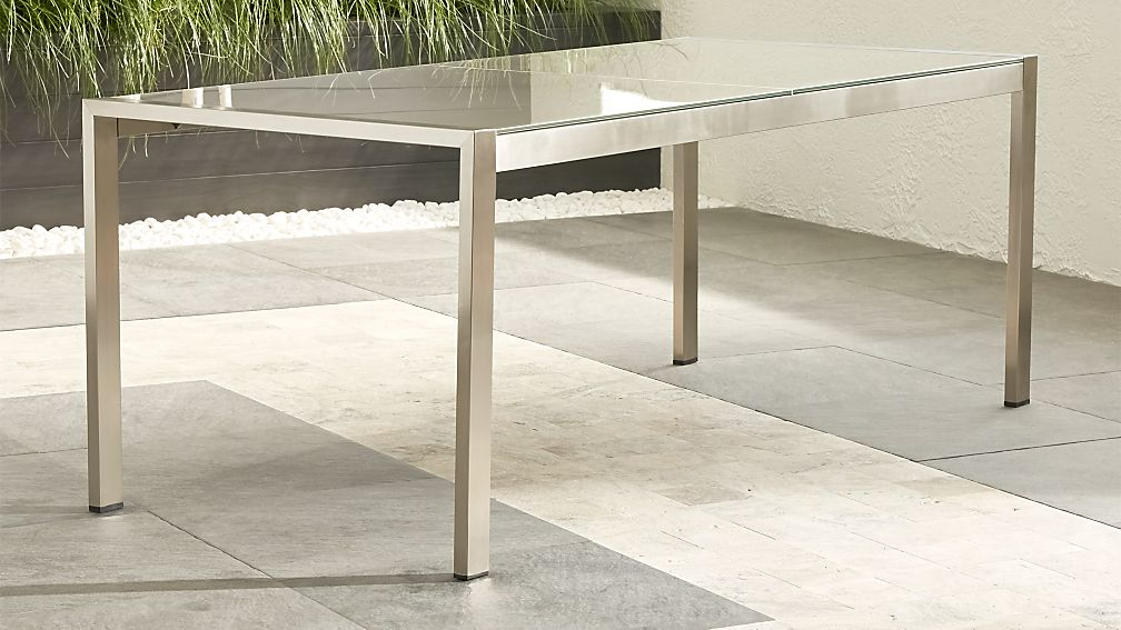 Dune Rectangular Dining Table with Taupe Painted Glass - Image 1 of 11
