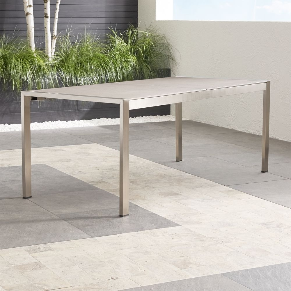 Dune Rectangular Dining Table with Pebbled Glass - Crate and Barrel
