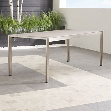 Dune Rectangular Dining Table With Pebbled Gl