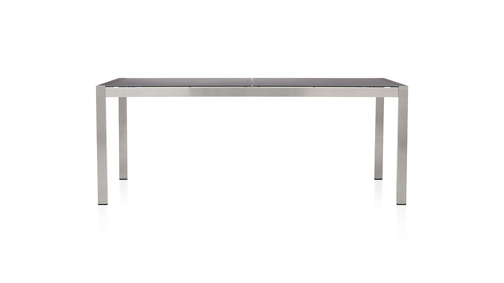 Dune Rectangular Dining Table with Painted Charcoal Glass