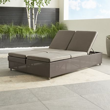 Modern Double Leather Chaise Lounge From Urban Americana Of