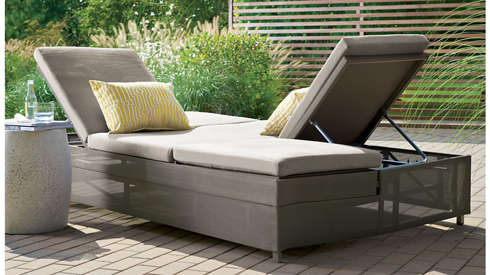 Dune Double Chaise Sofa Lounge with Sunbrella ® Cushions