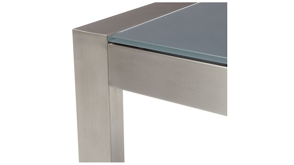 Dune High Dining Table with Painted Charcoal Glass