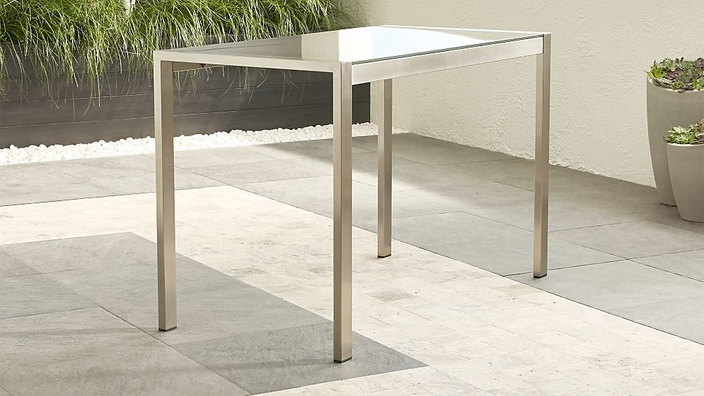 Dune High Dining Table with Taupe Painted Glass - Image 1 of 7