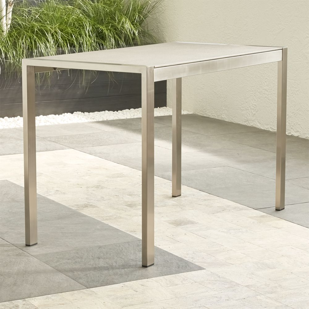 Dune High Dining Table with Pebbled Glass - Crate and Barrel
