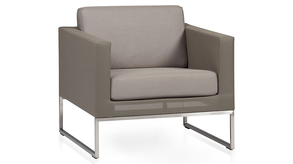 Dune Lounge Chair With Sunbrella Cushions Reviews Crate And Barrel - Crate and barrel replacement sofa cushions