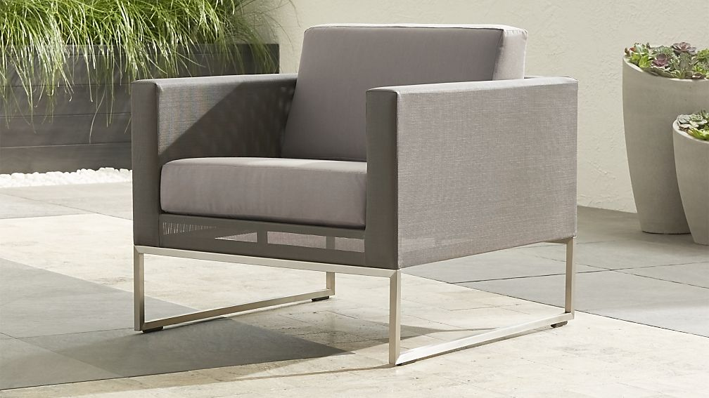 Dune Taupe Lounge Chair with Sunbrella ® Cushions - Image 1 of 12