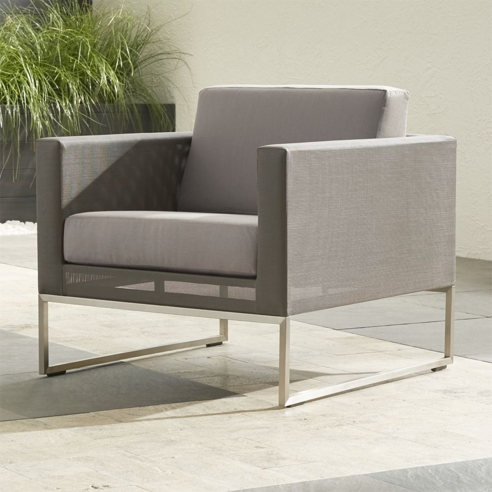 Dune Lounge Chair with Sunbrella ® Cushions - Crate and Barrel