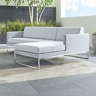 Dune 2 Piece Right Arm Chaise Sectional With Sunbrella Cushions