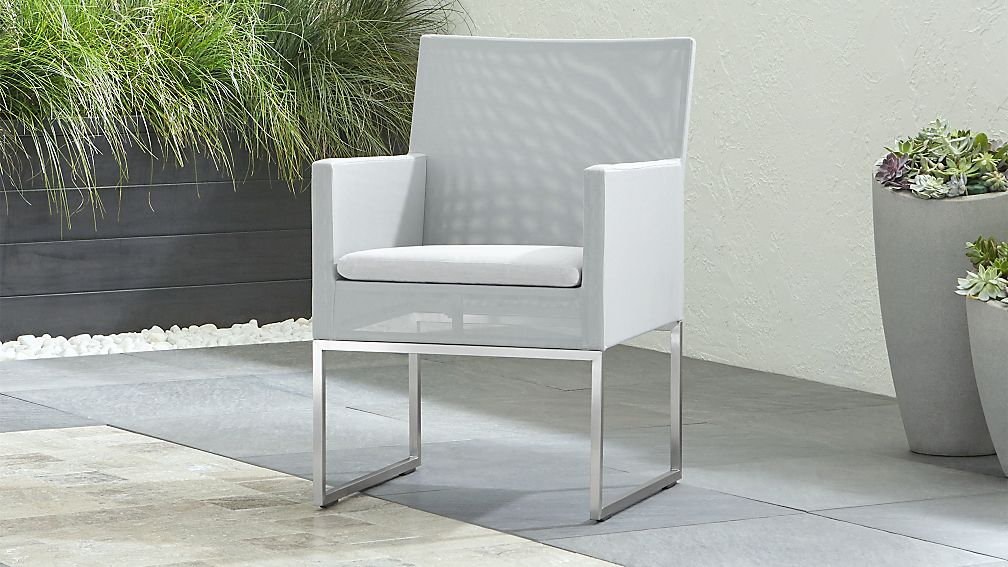 Dune dining chair with sunbrella cushion reviews crate